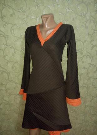 Интересное платье-миди с длинными рукавчиками, тёплое от matilda