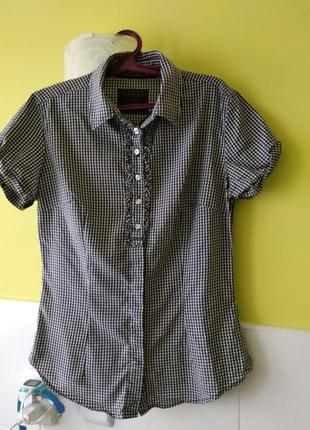 Рубашка в клетку с коротким рукавом guess