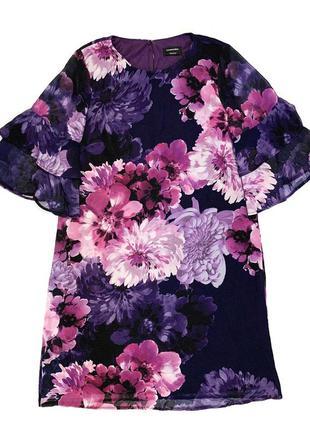 Много всего! платье в цветы c&a