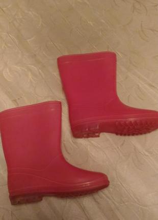Сапоги резиновые розового цвета, размер 33