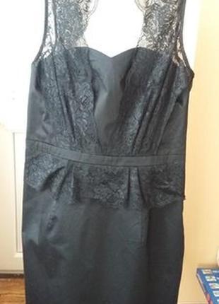 Черное платье с кружевом от oasis