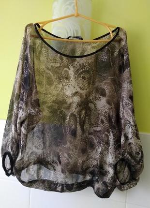Шёлковая блуза свободного кроя от zara
