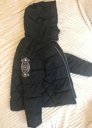 Дутая куртка сьемный мех