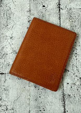 Небольшой но вместительный кожаный кошелек polo by ralph lauren