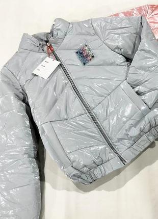 Шикарный бомбер,  демисезонная куртка для девочки