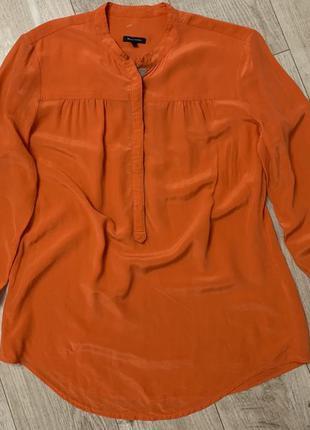 Шикарный цвет,шелковая блуза рубашка 100% шёлк размер м