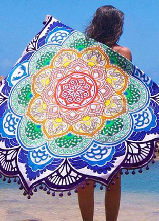 14-76/4  коврик мандала подстилка на пляж пляжний килимок наст...