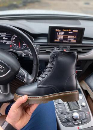 Чёрные ботинки мартенсы,высокие ботинки в стиле dr.mаrtens,дем...
