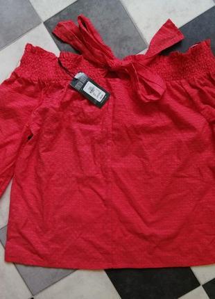 Блуза рубашка с открытыми плечами primark