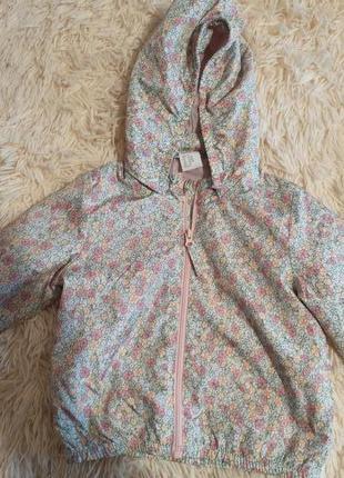 Ніжна вітровка курточка для дівчинки