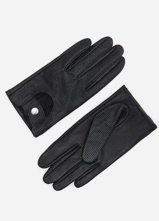 Кожаные перчатки с перфорацией reserved s