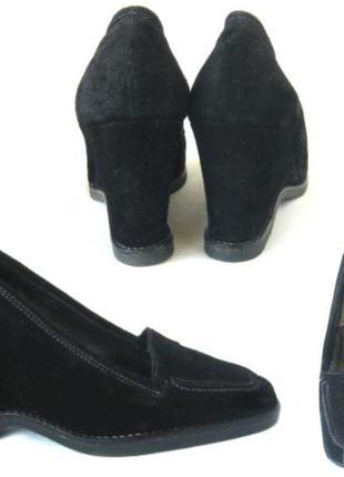 Черные замшевые туфли на платформе via spiga, р. 37,5