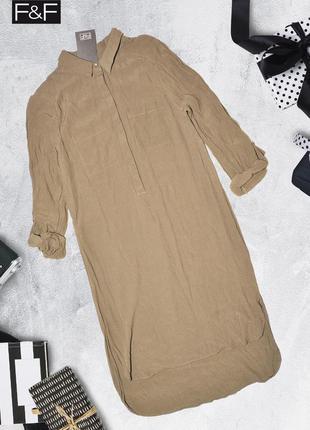 Платье вискозное хаки с карманами f&f