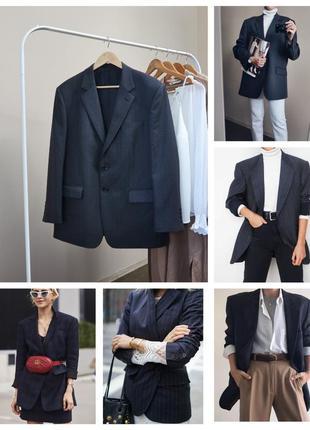 Ідеальний блейзер/ 45% шерсть / пиджак жакет в мужском стиле b...