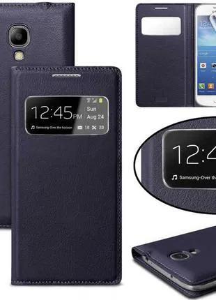 Фирменный чехол книжка для Samsung Galaxy S4 i9500 S-View Flip