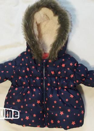 Фирменная зимняя курточка 0-3 мес