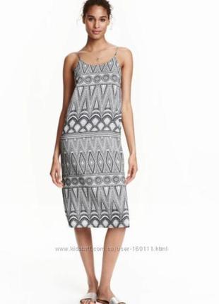 Платье на тонких бретелях от h&m