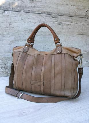 Liebeskind berlin большая кожаная сумка 100% натуральная кожа