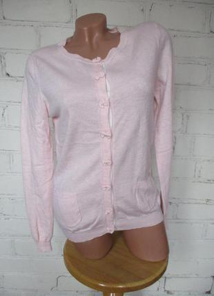 Свитер/джемпер нежно-розовый шерстяной/80% мериносовая шерсть/s-m