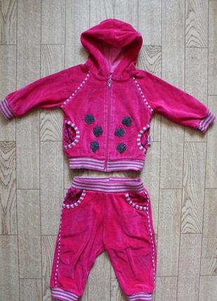 Велюровый костюм на 6-9мес