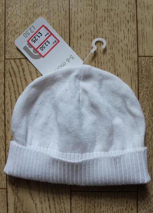 Новая шапочка mothercare 3-6 месяца
