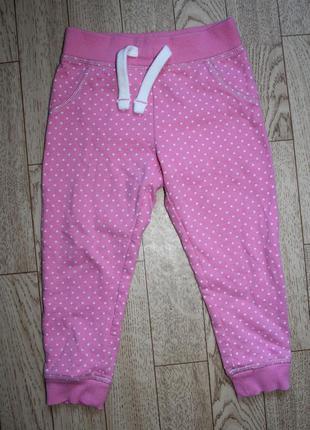 Тёплые штанишки в горошек mothercare