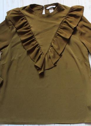 Блуза с рюшей h&m