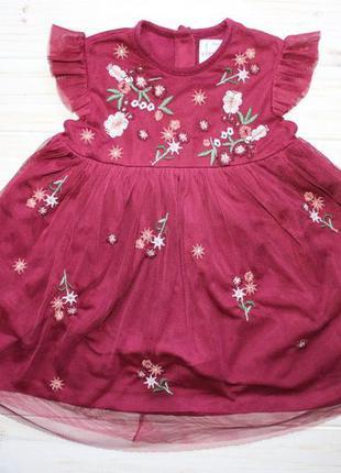 Нарядное платье f&f на 18-24мес.