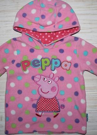 Флисовая кофта peppa pig на 2-3года