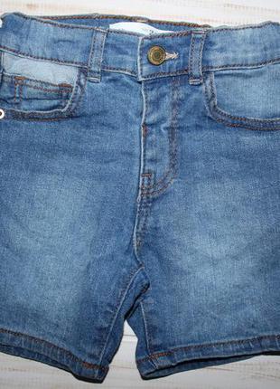 Модные джинсовые шорты zara на 12-18мес.