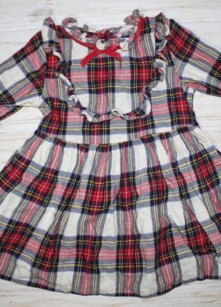 Красивое платье next на 9-12мес.