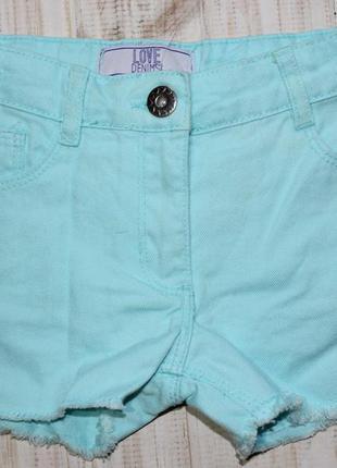 Джинсовые шорты dunnes stores на 6лет