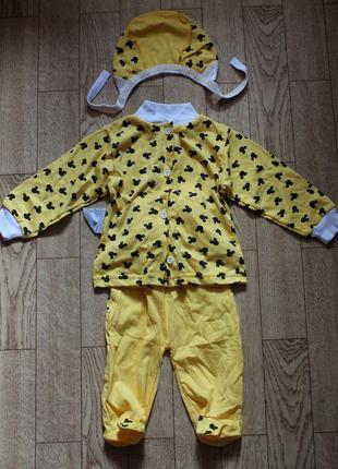 Новый костюм (можно на подарок) 3-6мес