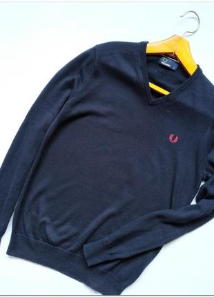 Мужской пуловер fred perry оригинал, из шерсти мериноса размер s
