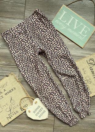 Штаны брюки летние леопард primark 7-8л