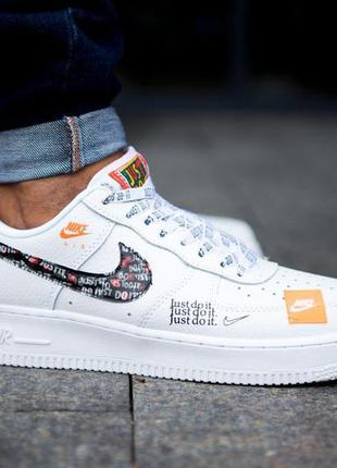 Nike air force 1 just do it pack white