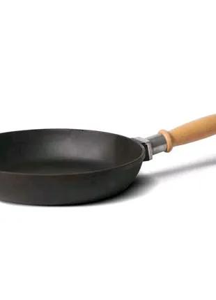 Сковорода чугунная 24 см без крышки