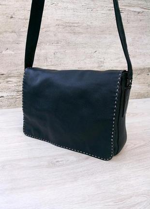 Кожаная сумка мессенджер / кросс боди / на плечо 100% натураль...