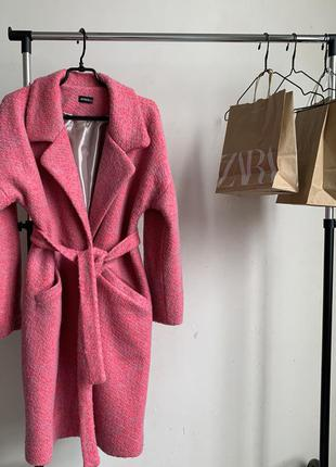 Стильное пальто пальтишко с шерстью оверсайз пальто халат в ст...