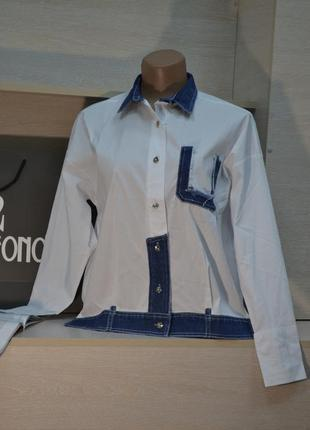 Рубашка с джинсой