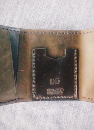 Кошелек-портмоне ручной работы из натуральной кожи
