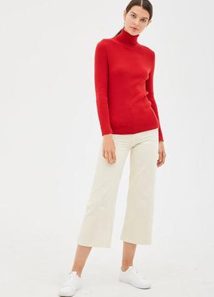 Красный гольф 100% нежная шерсть хл-ххл woolmark