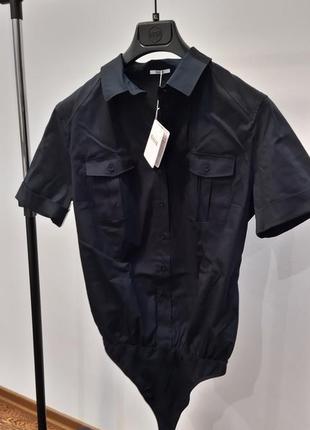 Новое боди рубашка wolford, австрия прекрасный состав блуза ко...