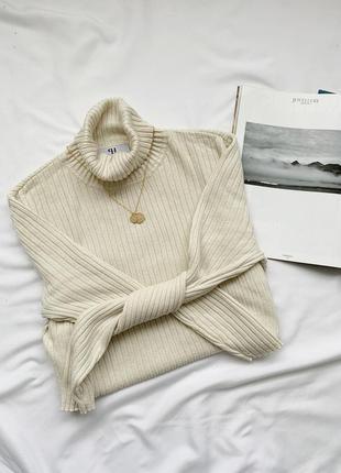 Джемпер, гольф, водолазка, кофта, пуловер, в рубчик, шелк, шов...