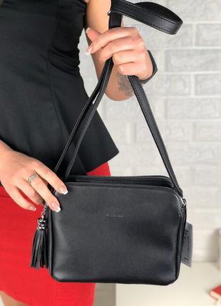 Клатч еко кожа через плечо длинный ремешок сумка кросс боди