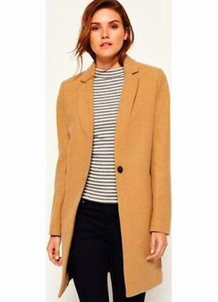 Стильное фирменное пальто из шерсти superdry .