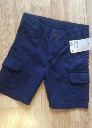 Фирменные  шорты-карго, шорты для мальчика h&m, размер 1,5-2 г...
