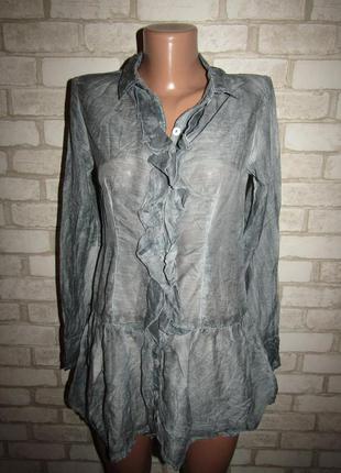 Натуральная блуза туника р-р xs-s бренд coconut