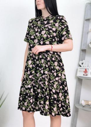 Платье вискоза оверсайз в цветы vero moda