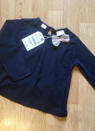 Нарядная кофта, блуза, реглан для девочки zara, размер 2-3 г, ...